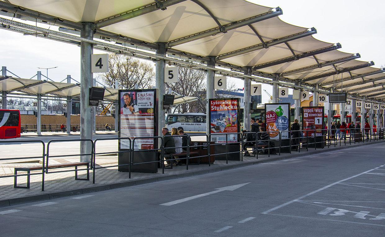 Главный автовокзал в Братиславе Млинске Нивы