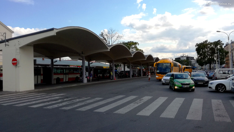 Главный автовокзал в Брно