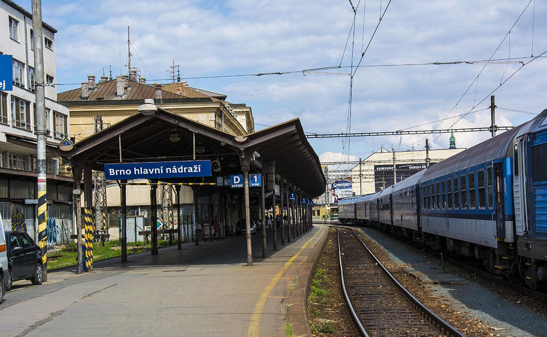 Главный железнодорожный вокзал в Брно