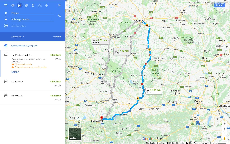 Как добраться из Праги в Зальцбург