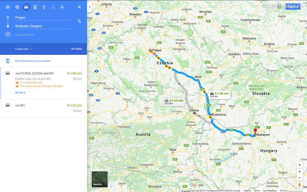 Как добраться из Праги в Будапешт время в пути на автобусе и автомобиле