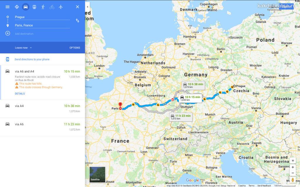 Как добраться из Праги в Париж карта и время в пути