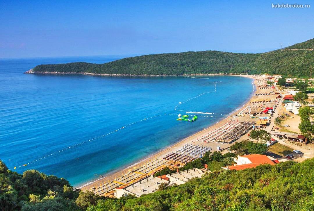 Пляж Яз самый красивый в Черногории