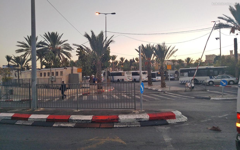 «Арабский» автовокзал в Иерусалиме