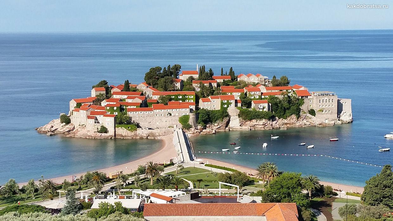 Свети-Стефан приморский город в Черногории