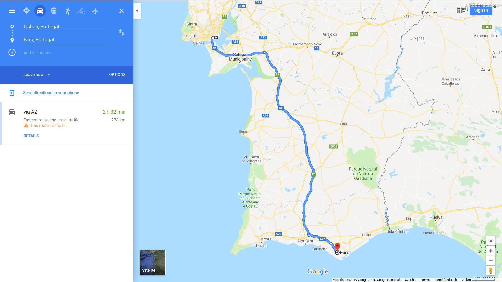 Как добраться из Лиссабона до Алгарве и Фару