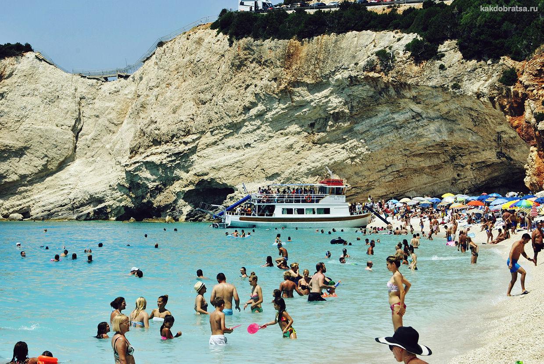 Лефкада остров в Греции для пляжного отдыха