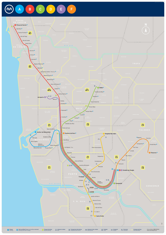 Карта метро Порту