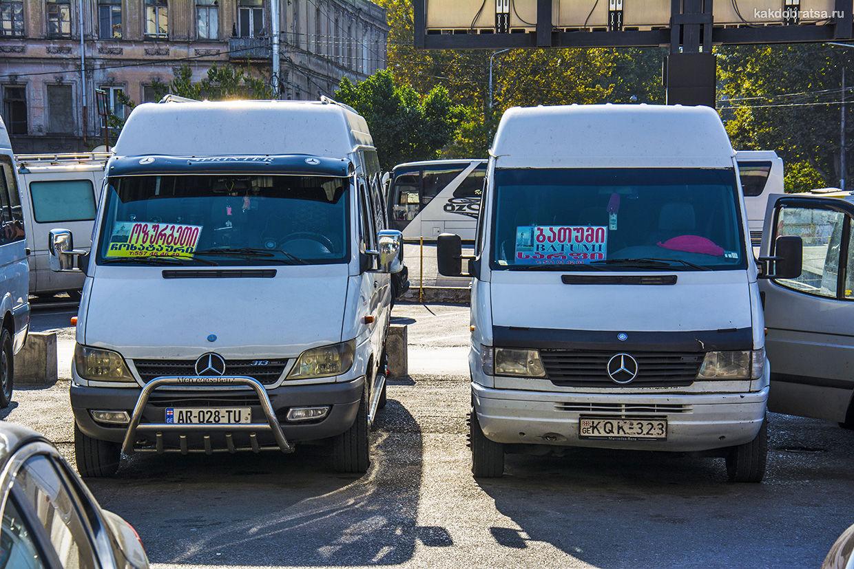 Автобус транспорт Из Тбилиси в Боржоми как добраться
