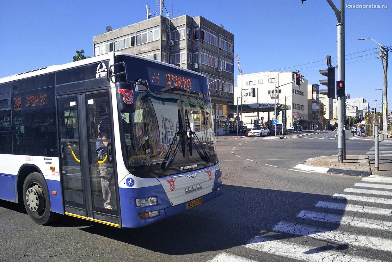 Автобусы в Тель-Авиве