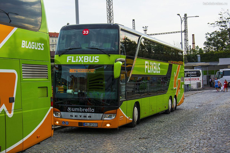 Автобус FlixBus из Вены