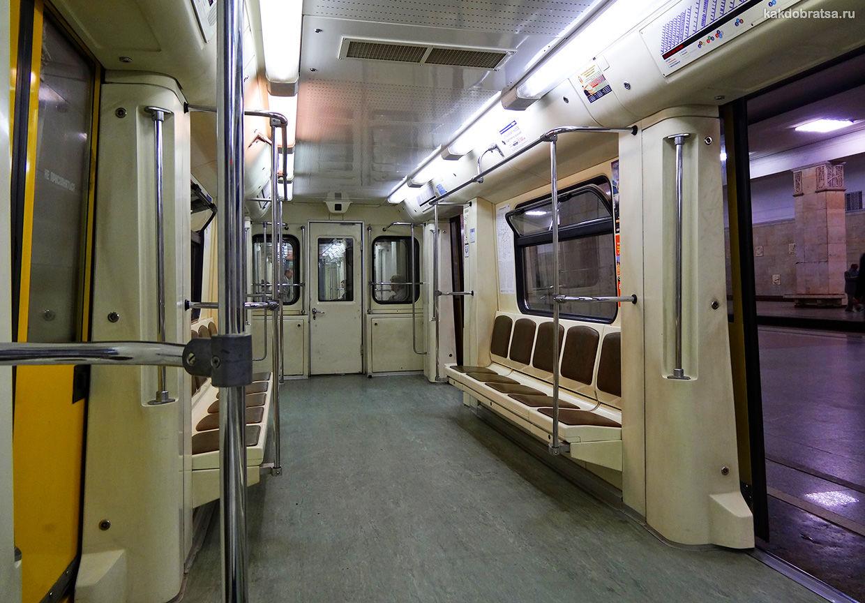 Москва метро вагон