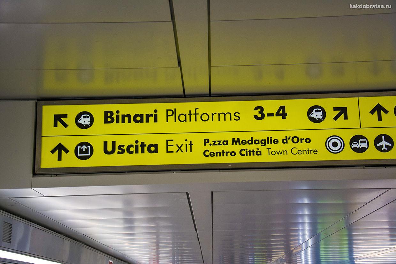 ЖД вокзал Болоньи навигация