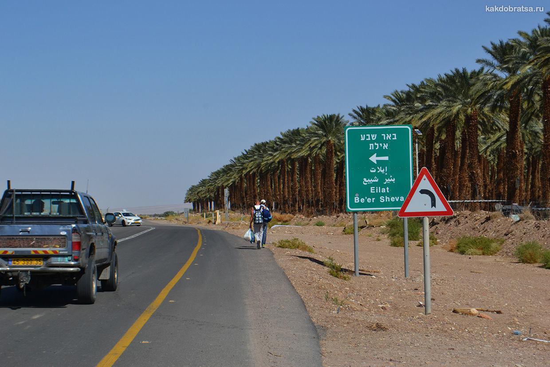 Дорога из Акабы в Эйлат