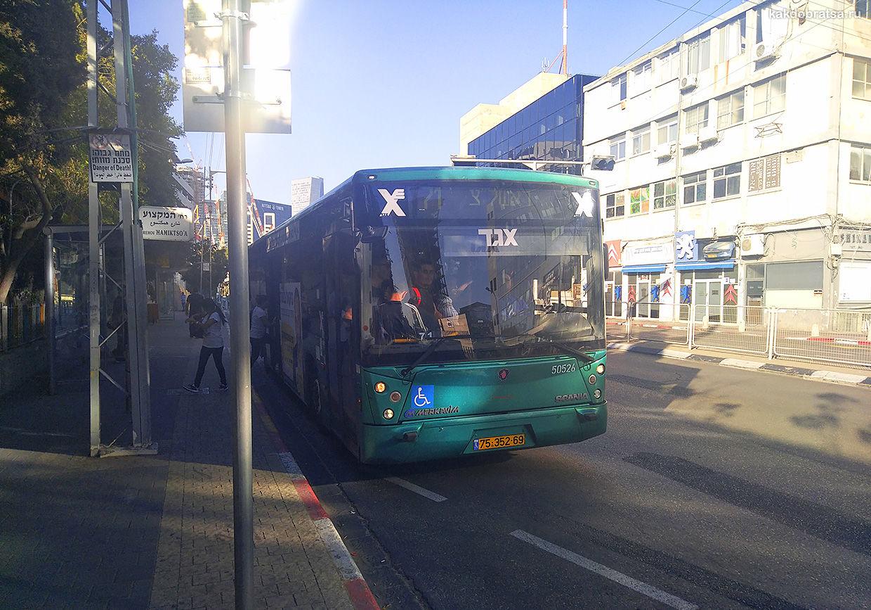 Пригородные автобусы в Тель-Авиве