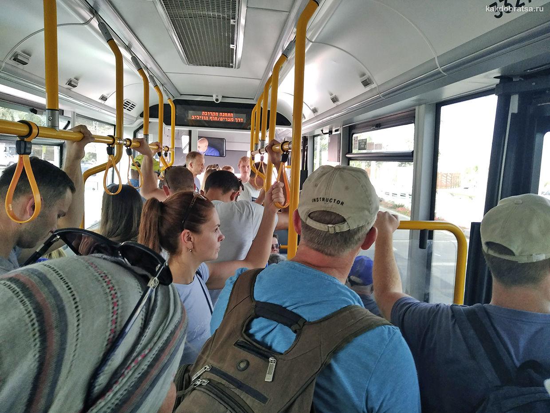 Внутри автобуса в Эйлате, Израиль