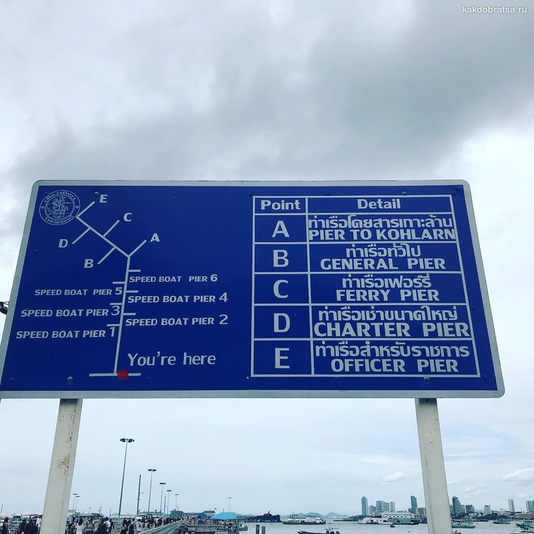 Пирс порт Бали Хай в Паттайе карта