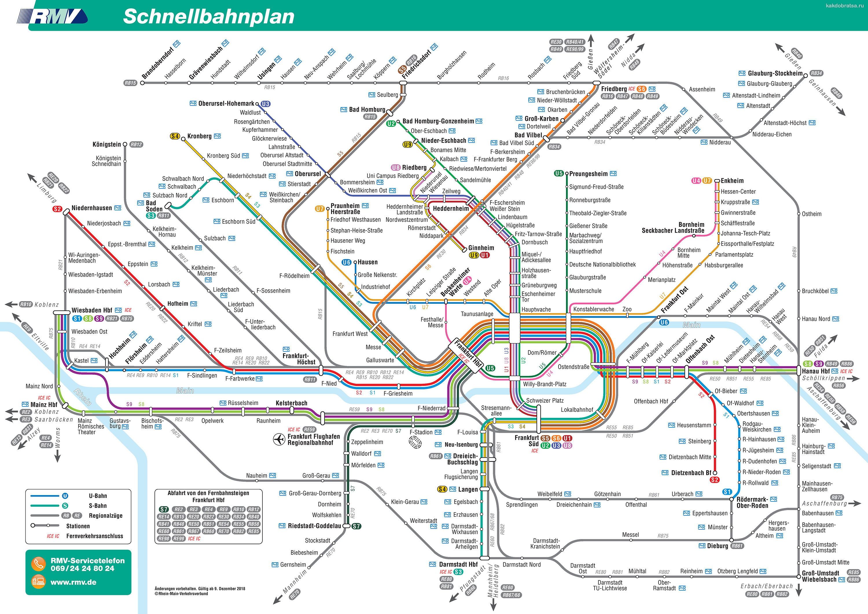 Карта метро Франкфурта-на-Майне