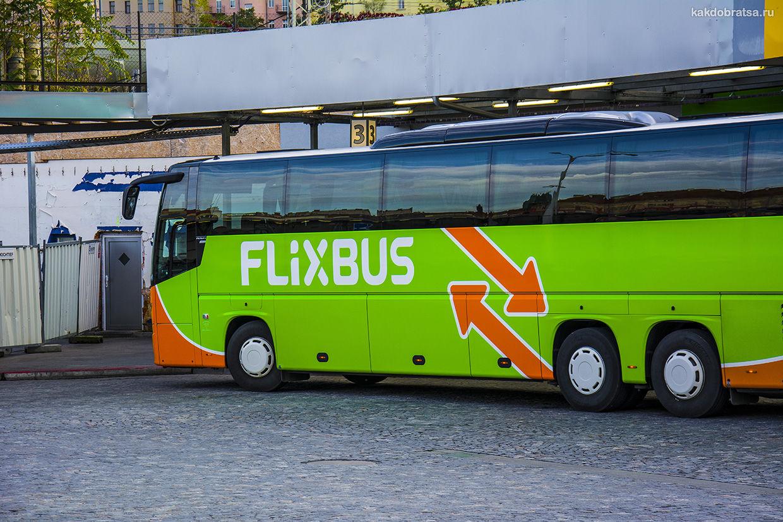 Автобус Фликсбус в Мюнхене