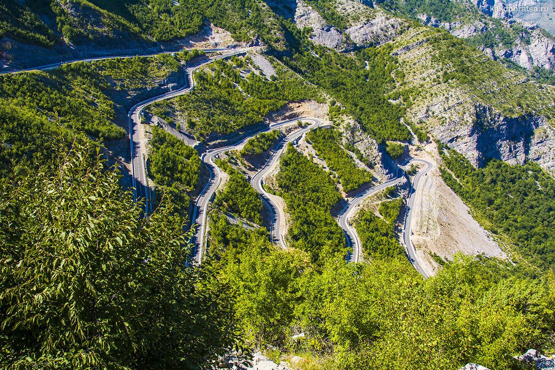 Самая красивая дорога серпантин в Европе