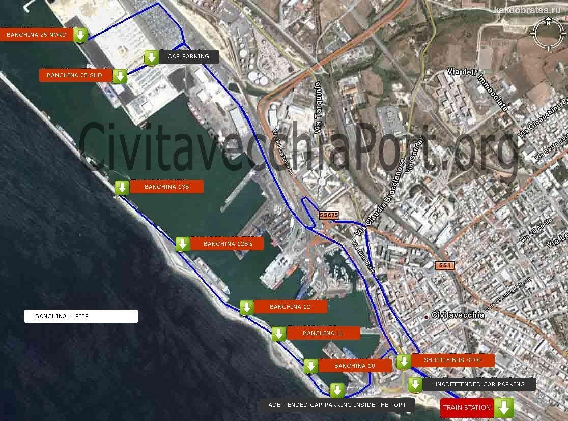 План порта Чивитавеккья