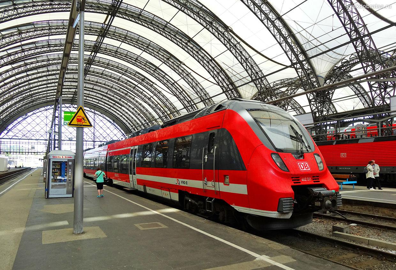 Поезд из Берлина в Дрезден