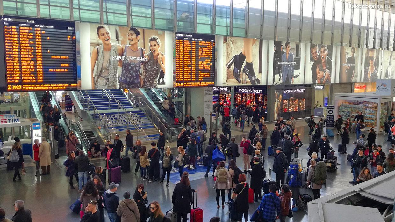Расписание поездов на вокзале Рим Термини