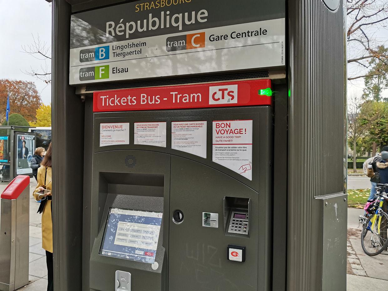 Страсбург где купить билет на трамваи и автобусы