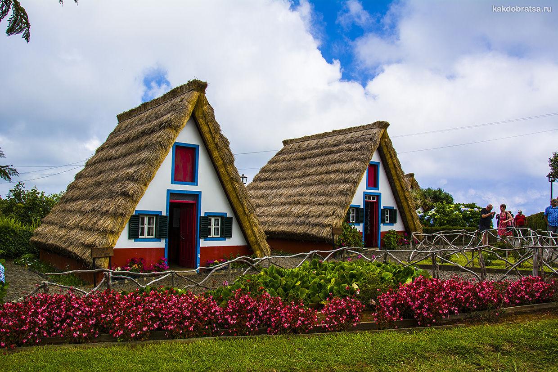Город с красивыми домами на Мадейре