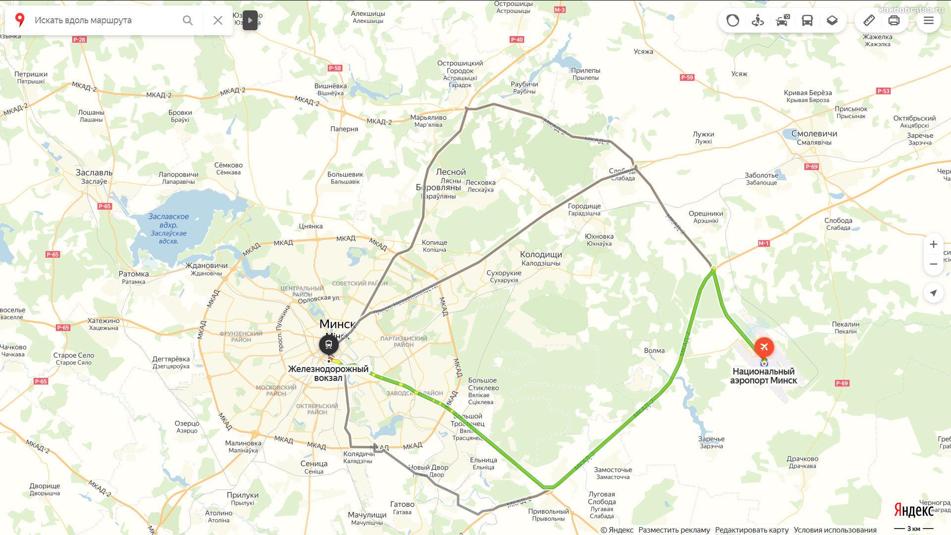 Вокзал Минск-Пассажирский где находится на карте
