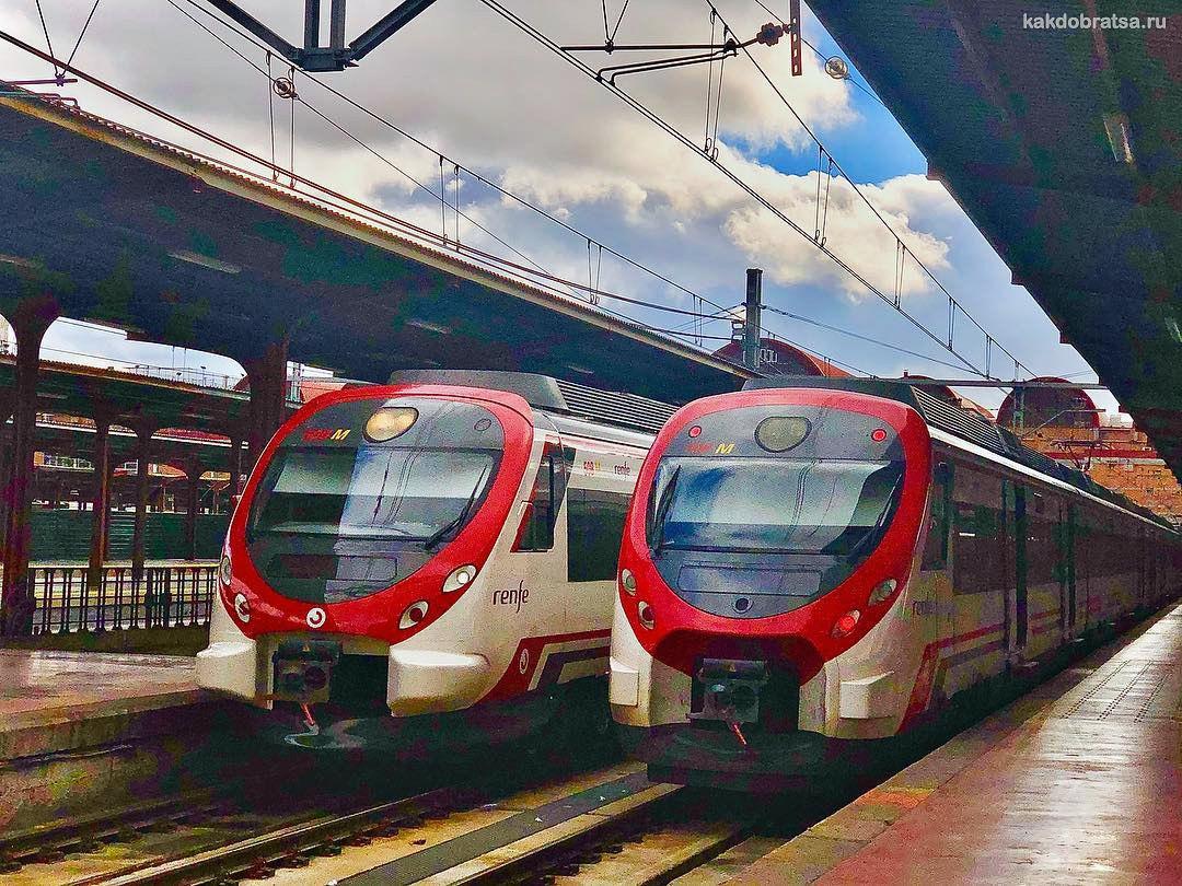 Поезд с вокзала Мадрид Чамартин