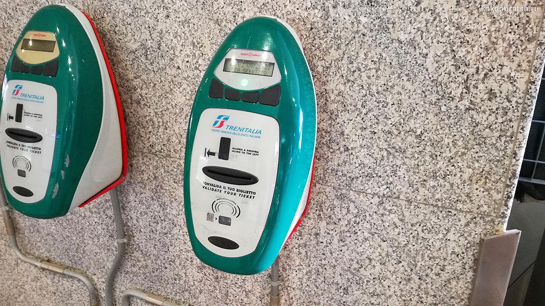 Валидатор билетов на поезд в Италии