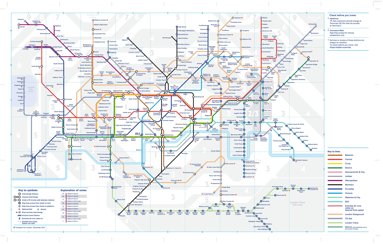 Карта схема метро Лондона