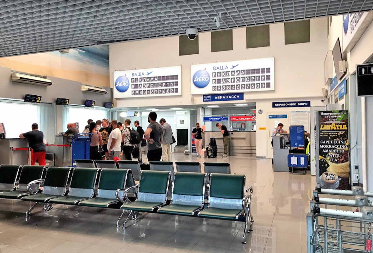 Аэропорт Геленджик терминал и магазины
