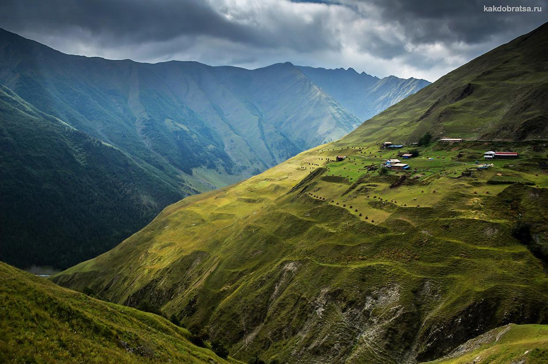 Тушетия горный регион в Грузии