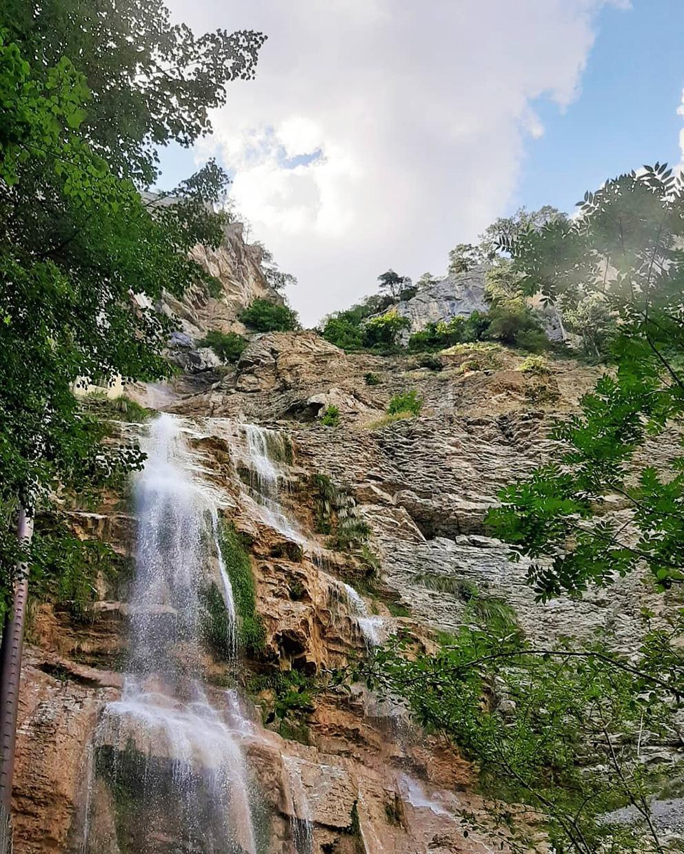 Водопад Учансу природные красоты Крыма