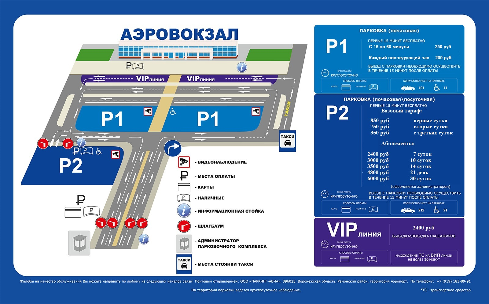 Аэропорт Воронежа парковки схема и цены