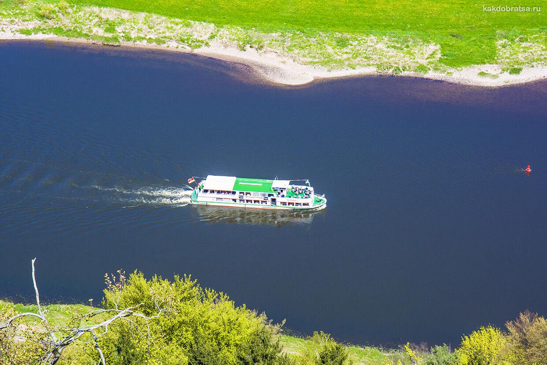 Кораблик из Дрездена до Саксонской и Чешской Швейцарии