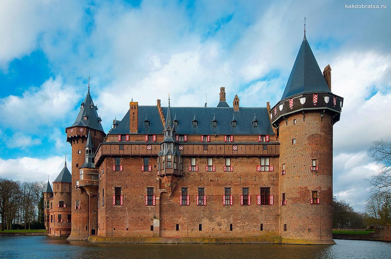 Замок Де-Хаар в Нидерландах рядом с Утрехтом