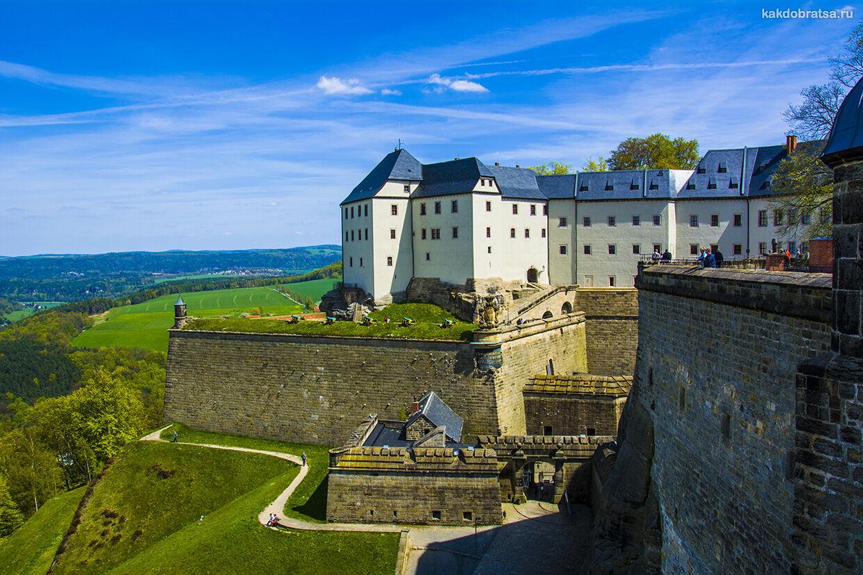 Крепость Кёнигштайн Саксонская Швейцария как добраться из Праги и Дрездена