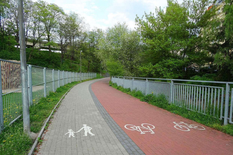 Велосипедная дорожка в Праге