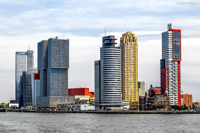 Роттердам футуристичный город с небоскребами в Нидерландах