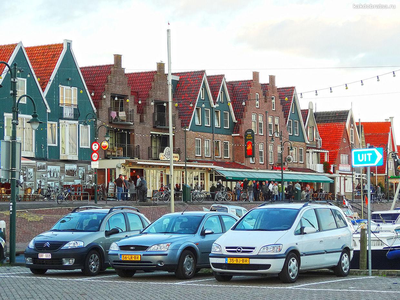 Живописный голландский городок Волендам
