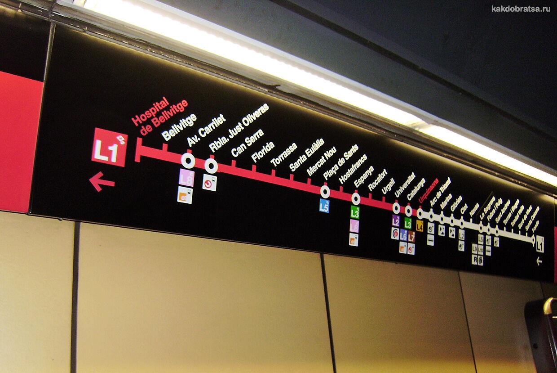 Метро Барселоны красная линия L1