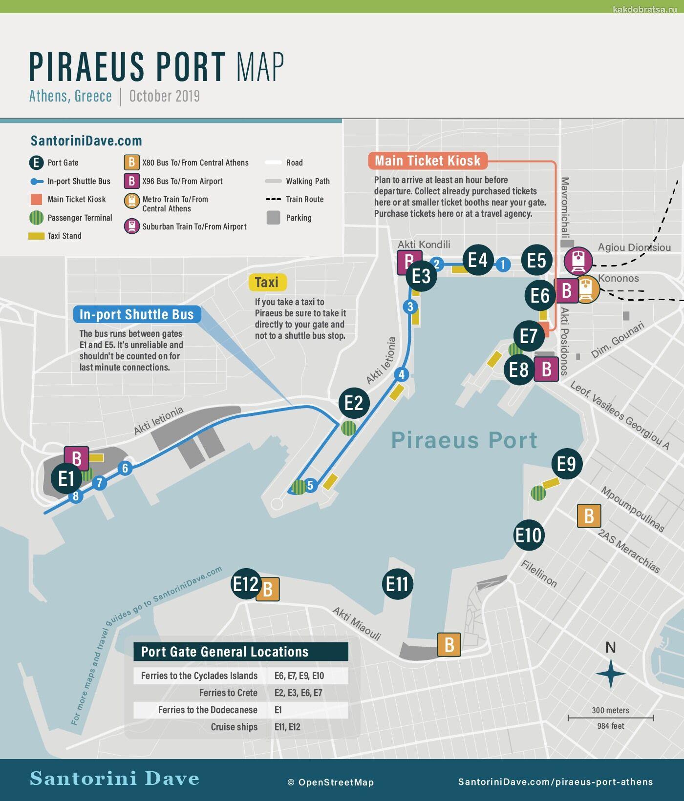 Карта Пирейского порта
