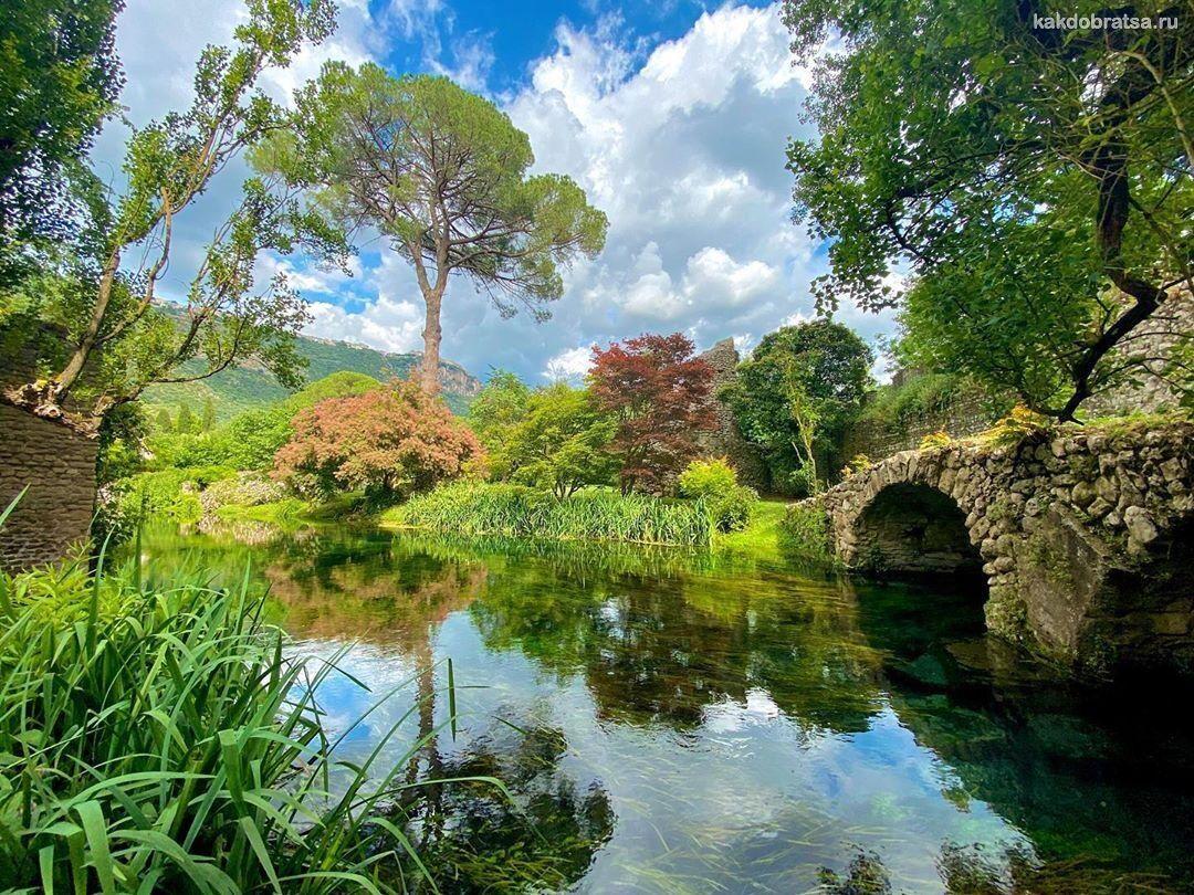 Сады Нинфа - обязательное для посещения место в Италии