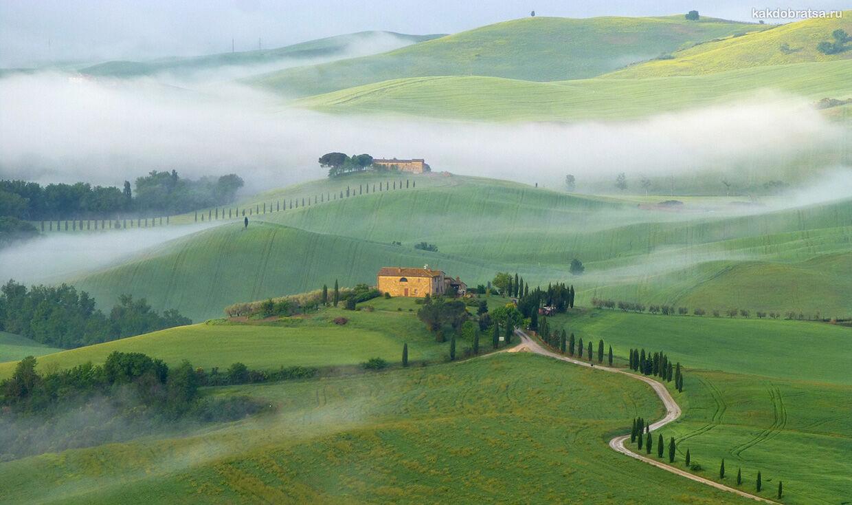 Валь-д'Орча в итальянском регионе Тоскана