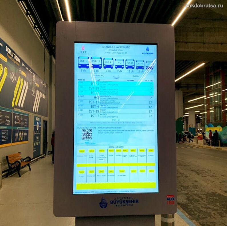 Новый аэропорт Стамбула карта автобусных платформ