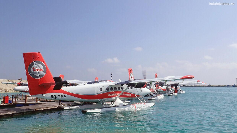 Трансфер на гидросамолете на Мальдивах