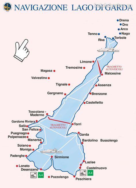 Озеро Гарда с городами и курортами